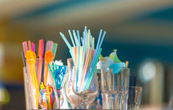Straws for cocktail Royalty Free Stock Image