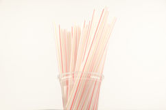 Straws for a cocktail Stock Photos