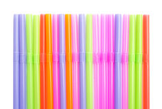 straws in different colors Stock Photo