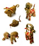 Straws figurines Royalty Free Stock Images