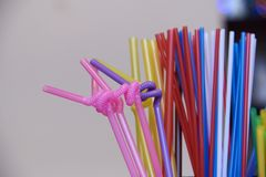 Free Straws For A Cocktail Stock Photo - 107127360