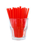 Straws in glass Royalty Free Stock Photos