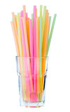 Straws in glass Stock Image