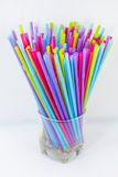 Straws in glass Royalty Free Stock Photo