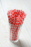 Straws in Glass Stock Photo