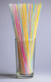 Straws in glass Stock Photography