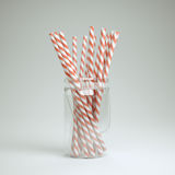 Straws in a jar Stock Photography