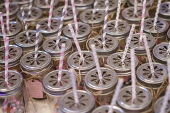 Straws and Jars Stock Photography