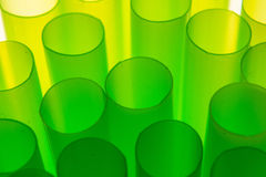 Straws. Makro photo of backlight straws Stock Photos