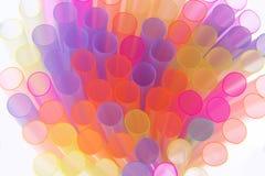 Straws of Many Colors Stock Photos