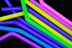 Straws. Multi color plastic straws for drinking Royalty Free Stock Photo