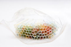 Straws package Royalty Free Stock Photo