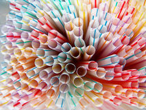 Straws Pattern Background Stock Photo