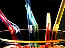 Straws (six). Straws in one glass (six Stock Image