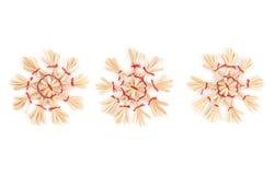 strawy dekorativa snowflakes för jul Royaltyfri Foto
