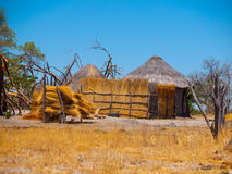 Strawy huts of african village Royalty Free Stock Photography