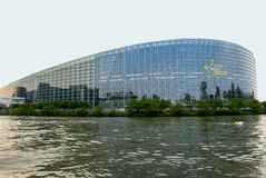 Strazburg Parlamento Europeo e Consiglio d'Europa Immagine Stock