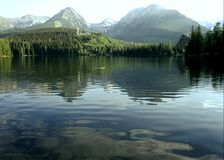 strba jezioro Slovakia Obrazy Royalty Free