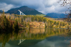 Strba lake. In High Tatras Stock Photos