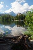 Strbke-pleso auf hohem Tatry - typische Ansicht während des Sommers lizenzfreie stockbilder