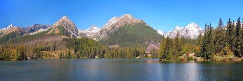 Strbske普莱索,高Tatras全景  库存图片