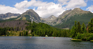 Strbske lake, mountains High Tatras, Slovakia, Europe Royalty Free Stock Image