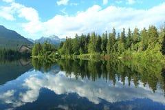 Strbske lake Stock Image