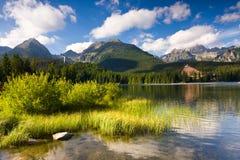 Strbske Pleso, λίμνη στη Σλοβακία σε υψηλό Tatras Στοκ εικόνες με δικαίωμα ελεύθερης χρήσης