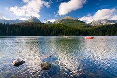 Strbske Pleso, λίμνη στη Σλοβακία Στοκ εικόνες με δικαίωμα ελεύθερης χρήσης