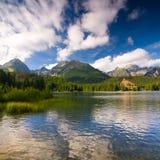 Strbske Pleso, λίμνη στη Σλοβακία Στοκ Εικόνα
