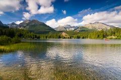 Strbske Pleso, λίμνη στη Σλοβακία Στοκ φωτογραφία με δικαίωμα ελεύθερης χρήσης