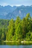 Strbske Pleso, όμορφη λίμνη σε υψηλό Tatras Στοκ εικόνα με δικαίωμα ελεύθερης χρήσης