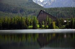 Strbske pleso. Luxus hotel with trees near Strbske pleso Royalty Free Stock Photography