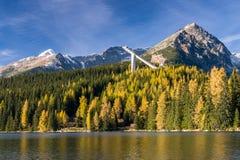 Strbske Pleso in autunno, Slovacchia Fotografie Stock