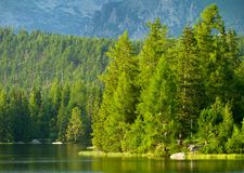 Strbske Pleso, beautiful lake Royalty Free Stock Photos