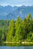 Strbske Pleso, beautiful lake in High Tatras Royalty Free Stock Image