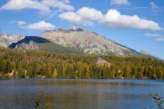 Strbske pleso in High Tatras National park, Slovakia, Europe royalty free stock photos