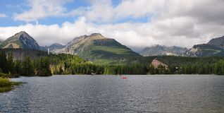 Strbske pleso panorama royalty free stock photography