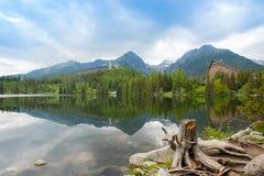 Strbske Pleso - la Slovacchia Vysoke Tatry, alto Tatras Fotografie Stock Libere da Diritti
