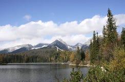Strbske Pleso - lago Fotografie Stock Libere da Diritti