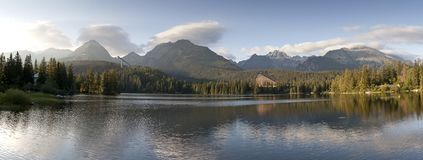 Strbske pleso - lake in high Tatras  Royalty Free Stock Photo