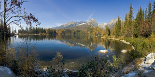 Strbske pleso - Lake in High Tatras - Slovakia Stock Photos