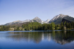 Strbske Pleso lake resort Royalty Free Stock Images