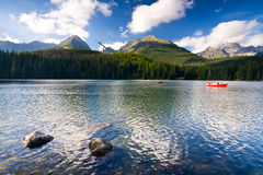 Strbske Pleso, lake in Slovakia in High Tatras Royalty Free Stock Images