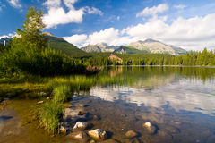 Strbske Pleso, lake in Slovakia in High Tatras royalty free stock photos