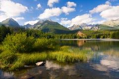 Strbske Pleso, lake in Slovakia Stock Image