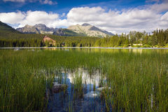 Strbske Pleso, lake in Slovakia Royalty Free Stock Image