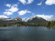 Strbske Pleso. This is lake in Tatra mountains, located in Strba, Slovakia Stock Photography