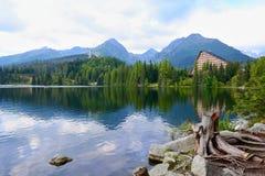 Strbske Pleso lake Royalty Free Stock Images