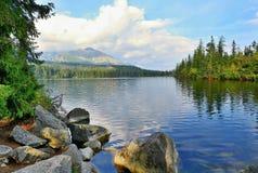 Strbske pleso lake Stock Photo